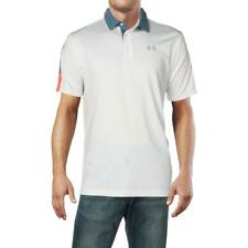 Under Armour Mens Playoff White Golf Active Polo Athletic L BHFO 9528