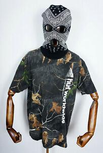 Huf Worldwide Skateboard T-Shirt Tee Longsleeve Realtree Peak Logo Black in L