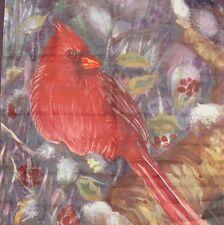 """New Winter Cardinal Garden Flag Yard Size 25"""" x 38"""" Bird Red"""