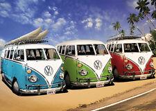 RIESEN Poster VW BUS - 3 California Camper Beach ca140x100cm NEU FL382