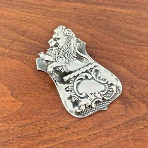REGAL SHIEBLER STERLING SILVER DESK PAPER CLIP LION RAMPANT NO MONOGRAM