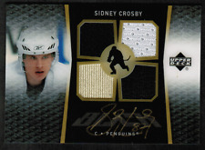 2007-08 UD Ice Black Jersey Autograph #BISC Sidney Crosby Auto BV$500 (ref 0636)