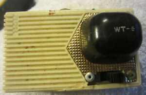 Vintage FUTURA WT-6 TRANSISTOR RADIO  Bell Products St Louis MO,for repair