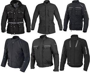 Mens Motorbike Motorcycle Armoured Waterproof Cordura Textile Jacket Riding Top