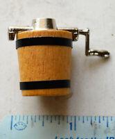 Vintage New Old Stock Dollhouse Miniature Ice Cream Maker Churn