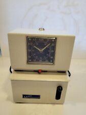 Lathem Time Corporation Vintage Time Clock Recorder Model 2221 No Key Made Usa