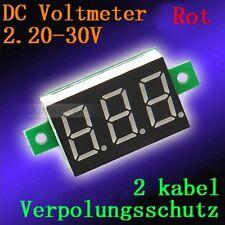 DC 2,2-30V Rot Led Digital Voltmeter Spannungsmesser Voltanzeige Panel Meter