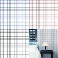 Tartan Check Plaid Wallpaper Black Red Blue White Checked Chequered Paste Wall