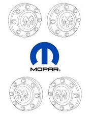 For Dodge Ram 3500 11-17 Set of Front & Rear Wheel Center Caps Hubcap Cover OEM