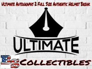 SEATTLE SEAHAWKS 2 AUTHENTIC Full Size Ultimate Autographs Helmets Break