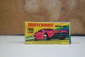 Matchbox Superfast No 32 Maserati Bora SH14 MB