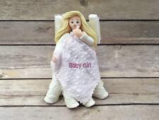 "2003 Pavilion Kneeded Angels ""Baby Girl Quilt"" #6707 Figurine Angel"