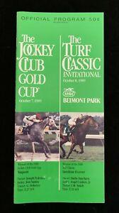 1989 Jockey Club Gold Cup Program Belmont Park Easy Goer Pat Day Grade 1