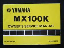Yamaha 1983 MX100 MX 100 New Original Owners Manual AHRMA