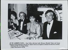 Joan Collins, Leslie Bricusse, Elizabeth Taylor, George Hamilton ORIGINAL PHOTO