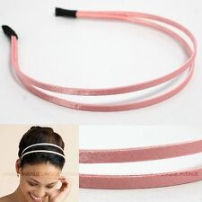 CELEBRITY DOUBLE HAIR HEADBAND GOSSIP GIRL PEACH HB1057