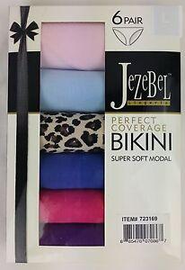 6 X JeZeBel Women's Sexy Coverage Bikini Panties Briefs Sz XL(14 -16)