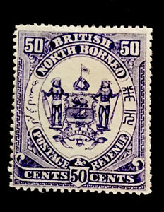 North Borneo SG46 50c Victoria 1888 no gum CV £130