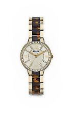 Runde Fossil Armbanduhren mit Glanz-Finish für Damen