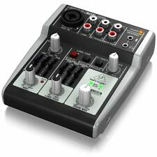 Behringer Xenyx Mischpult 302USB Analog Mixer Preamp Audio Musik 5 input Pult
