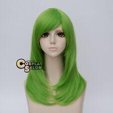 Anime 55CM Long Green Wavy Women Basic Style Hair Cosplay Wig Heat Resistant