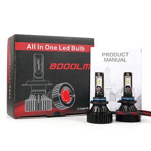 T8 LED 80W 8000LM Bulbs 6000K White High Power Fog Light Kit - 9006 HB4