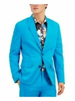 INC Mens Blazer Blue Size 2XL Slim Fit Peak-Lapel Two-Button Stretch $129- 408