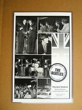 The Beatles 1964 Detroit Olympia Concert Poster 11 x 17 B&W Reproduction