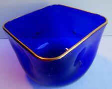 Beau rince-doigts XIXème, cristal bleu-nuit avec liseré Or: Baccarat ou Daum