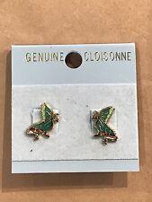 Dinosaur Cloisonne Earrings, Dragon