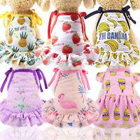 Pet Puppy Small Dog Lace Princess Tutu Mesh Dress Skirt Clothes Apparel Costume