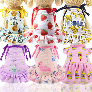 Pet Puppy Small Dog Lace Princess Tutu Mesh Dress Skirt Clothes Apparel Costume