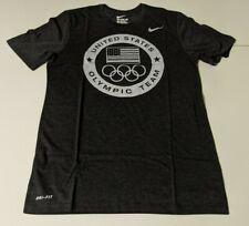 Nike USA Olympic Team M Charcoal Heather 801141 032 Athletic Dri-Blend