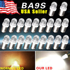 20x Pure White BA9S Interior Map Instrument Panel Dash Gauge LED Map Light Bulbs