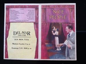 "1922 Wallace Reid & Bebe Daniels in ""Nice People""  Paramount Pictures    Herald"