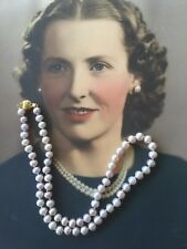 Vintage Jewellery Freshwater Pearl Necklace Lilac Pearls Antique Jewelry