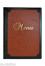 MENU COVER HOLDER RESTAURANT BAR PUB CATTERING LUXURY NEW SIGN