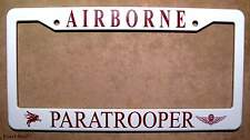 Canadian Airborne Paratrooper Car License Plate Frame
