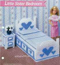 """""""LITTLE SISTER BEDROOM""""~Plastic Canvas PATTERN ONLY for BARBIE FASHION DOLL"""