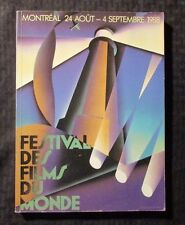 1988 FESTIVAL DES FILMS DU MONDE Montreal Program FN+ 6.5 SC 348pgs