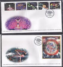 St. Vincent 1996 DISNEY Journey to the West 哪吒闹海 stamp+MS FDC (2pcs)