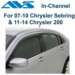 AVS 194458 Fits 11-14 Chrysler 200 Rain Guards In-Channel Window Vent Visor 4Pc