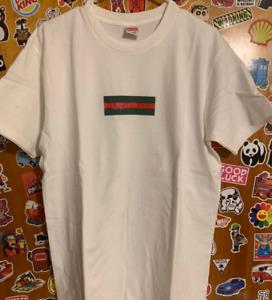 Supreme GG Box Logo Bogo T Shirt  White Size L