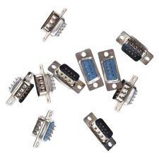 10 x Connecteur/Adaptateur DB9 Male vers Femelle a souder H8X3