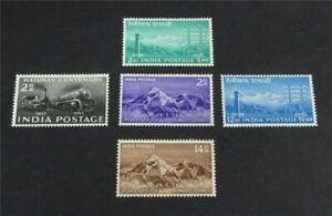 nystamps British India Stamp # 243-247 Mint OG H $40   L30x3232