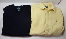 Ralph Lauren Boys XL 18 / 20 Long Sleeve Button Down + Vest w Pony
