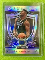 ZION WILLIAMSON PRIZM ROOKIE CARD JERSEY #1 DUKE RC PELICANS 2019 Panini Crusade