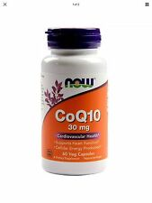 CoQ10 30mg Now Foods 60 Caps FAST SHIPPING First Class Mail