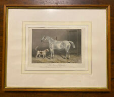 """Pferd Mit Hund Alter Stich Farbig """"the Dourn Keepsakes"""""""