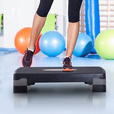 Steppbrett Aerobic Fitness Stepper Heimtrainer höhenverstellbar Sport Schwarz